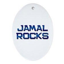 jamal rocks Oval Ornament