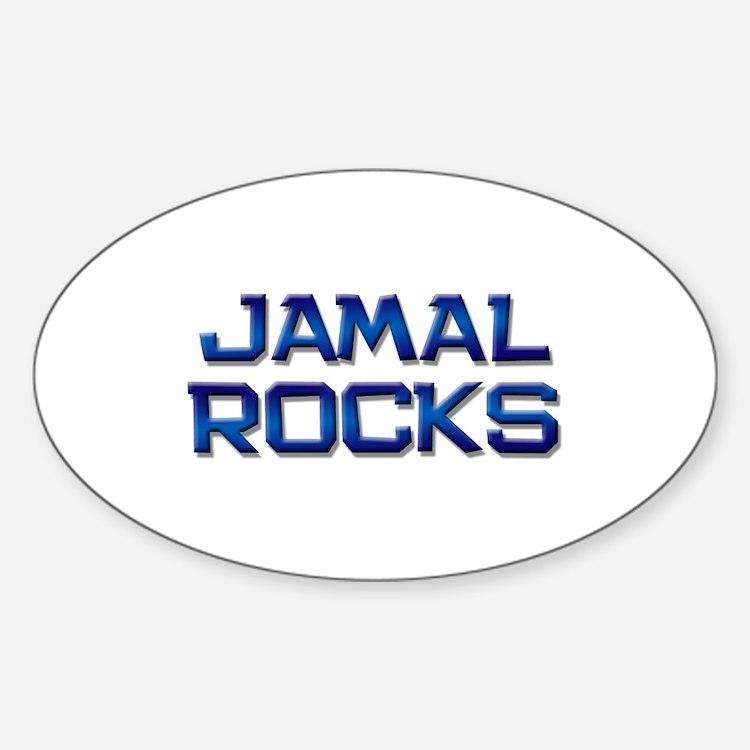 jamal rocks Oval Decal