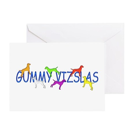 Gummy Vizslas Greeting Card