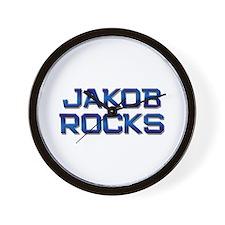 jakob rocks Wall Clock