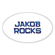jakob rocks Oval Decal
