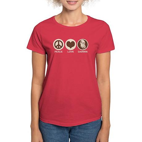 Peace Love Darwin Women's Dark T-Shirt
