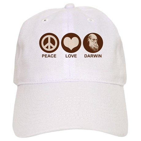 Peace Love Darwin Cap
