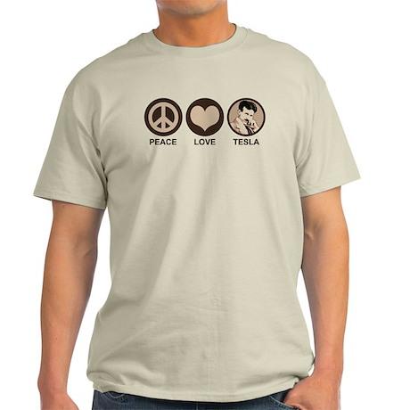Peace Love Tesla Light T-Shirt