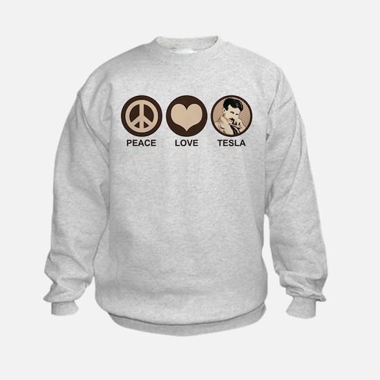 Peace Love Tesla Sweatshirt