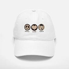 Peace Love Tesla Baseball Baseball Cap