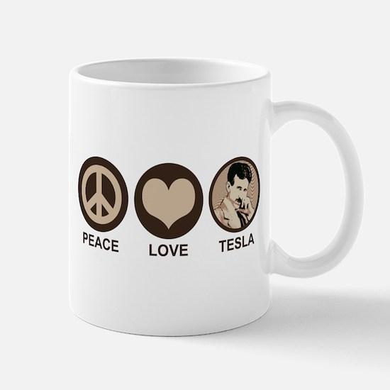 Peace Love Tesla Mug