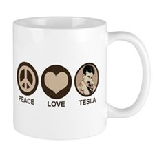 Peace Love Tesla Mug