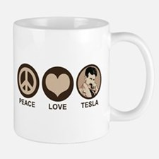 Peace Love Tesla Small Small Mug