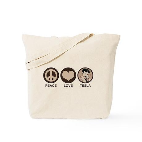 Peace Love Tesla Tote Bag