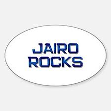 jairo rocks Oval Decal