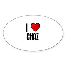 I LOVE CHAZ Oval Decal