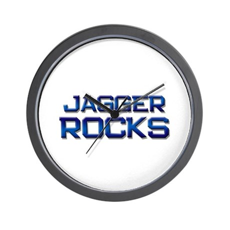 jagger rocks Wall Clock