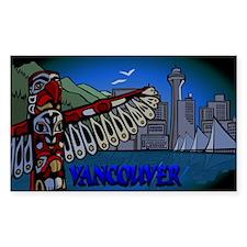 Vancouver Souvenir Rectangle Sticker 50 pk)