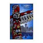 Vancouver Souvenir Totem Pole Poster Print