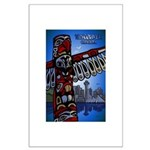 Vancouver Souvenir Large Poster Totem Pole Art