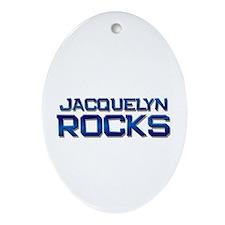 jacquelyn rocks Oval Ornament