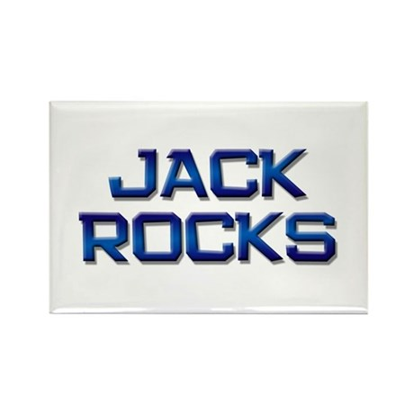 jack rocks Rectangle Magnet