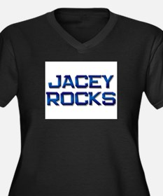 jacey rocks Women's Plus Size V-Neck Dark T-Shirt