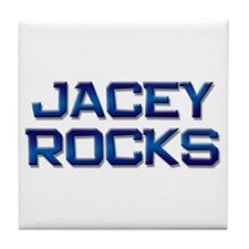 jacey rocks Tile Coaster