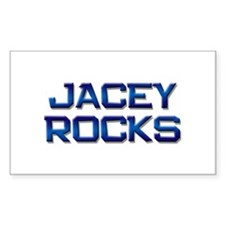 jacey rocks Rectangle Decal