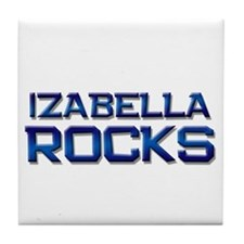 izabella rocks Tile Coaster