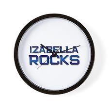 izabella rocks Wall Clock