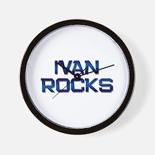 ivan rocks Wall Clock