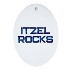 itzel rocks Oval Ornament