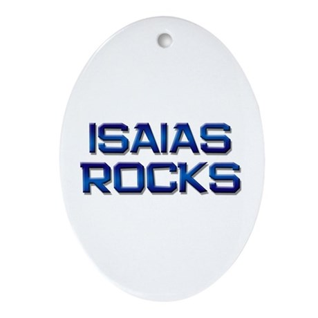 isaias rocks Oval Ornament