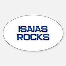 isaias rocks Oval Decal