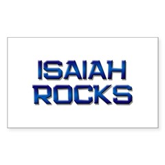 isaiah rocks Rectangle Decal