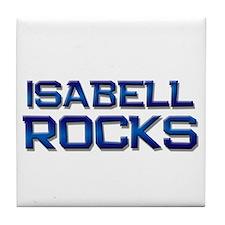 isabell rocks Tile Coaster