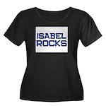 isabel rocks Women's Plus Size Scoop Neck Dark T-S
