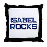 isabel rocks Throw Pillow