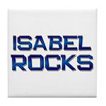 isabel rocks Tile Coaster