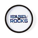 isabel rocks Wall Clock
