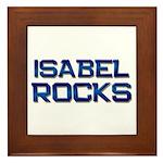 isabel rocks Framed Tile