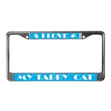 I Love My Tabby Cat License Plate Frame