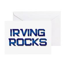 irving rocks Greeting Card