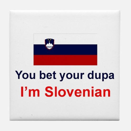 Slovenian Dupa Tile Coaster