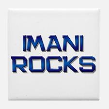 imani rocks Tile Coaster