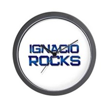 ignacio rocks Wall Clock