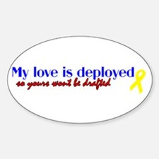 deployed so your wont get dra Oval Decal