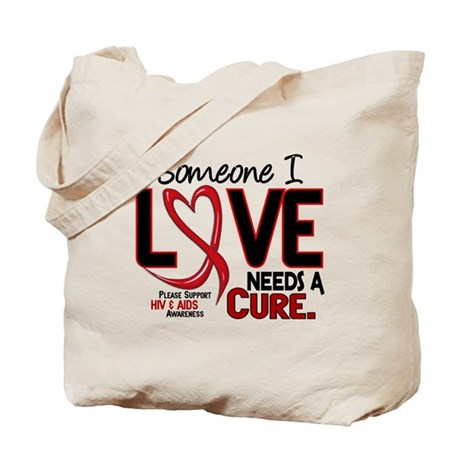 Needs A Cure 2 HIV AIDS Tote Bag