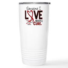 Needs A Cure 2 HIV AIDS Travel Coffee Mug