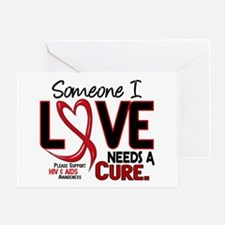 Needs A Cure 2 HIV AIDS Greeting Card