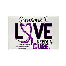 Needs A Cure 2 ALZHEIMERS Rectangle Magnet