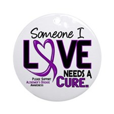 Needs A Cure 2 ALZHEIMERS Ornament (Round)