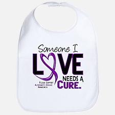 Needs A Cure 2 ALZHEIMERS Bib